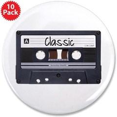 "Classic Cassette 3.5"" Button (10 pack)"