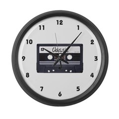 Classic Cassette Large Wall Clock