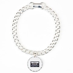 Classic Cassette Tape Bracelet with Round Charm