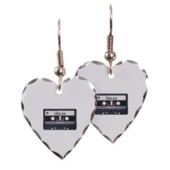 Classic Cassette Tape Heart Earrings