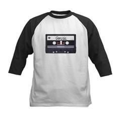 Classic Cassette Tape Kids Baseball Jersey T-Shirt