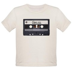 Classic Cassette Tape Organic Toddler T-Shirt