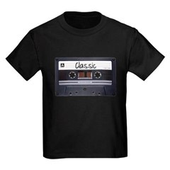 Classic Cassette Tape Youth Dark T-Shirt by Hanes