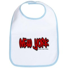 New York Graffiti Baby Bib