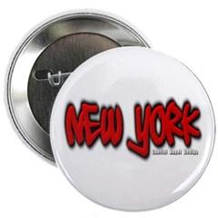 New York Graffiti Button