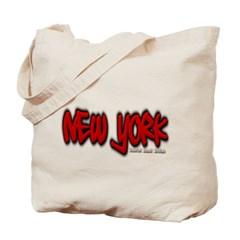 New York Graffiti Canvas Tote Bag