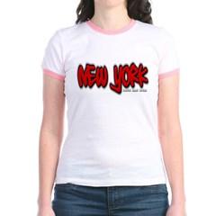New York Graffiti Junior Ringer T-Shirt