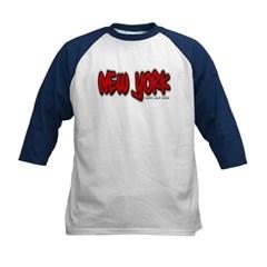 New York Graffiti Kids Baseball Jersey T-Shirt