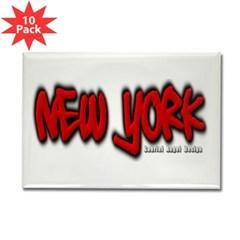 New York Graffiti Rectangle Magnet (10 pack)