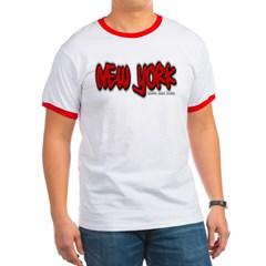 New York Graffiti Ringer T-Shirt