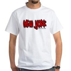 New York Graffiti White T-Shirt