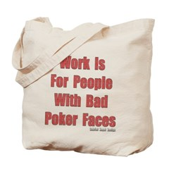 Bad Poker Faces Canvas Tote Bag