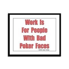 Bad Poker Faces Framed Panel Print