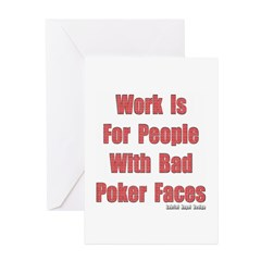 Bad Poker Faces Greeting Cards 10 Pack
