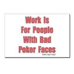 Bad Poker Faces Postcards Pack of 8