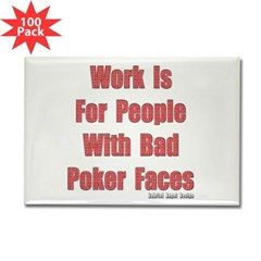 Bad Poker Faces Rectangle Magnet 100 Pack