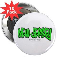 """New Jersey Graffiti 2.25"""" Button (10 pack)"""