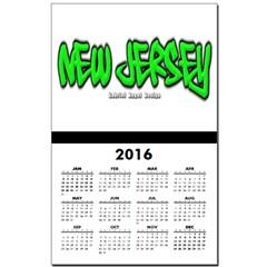 New Jersey Graffiti Calendar Print