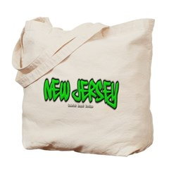 New Jersey Graffiti Canvas Tote Bag