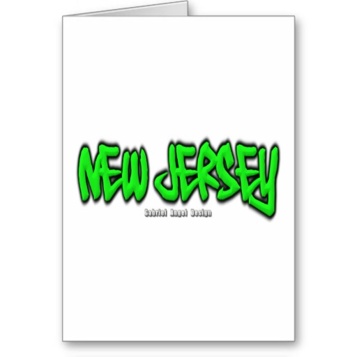 New Jersey Graffiti Greeting Card
