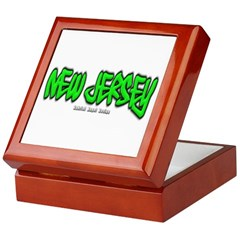 New Jersey Graffiti Keepsake Box