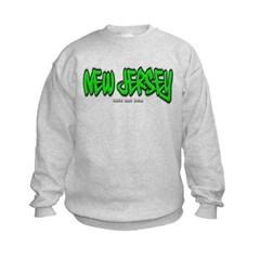 New Jersey Graffiti Kids Crewneck Sweatshirt by Hanes