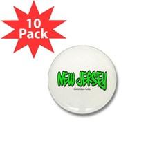 New Jersey Graffiti Mini Button (10 pack)