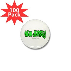 New Jersey Graffiti Mini Button (100 pack)