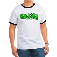 New Jersey Graffiti Ringer T-Shirt