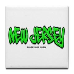 New Jersey Graffiti Tile Coaster