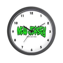 New Jersey Graffiti Wall Clock