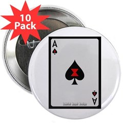 """Ace of Spades Card 2.25"""" Button (10 pack)"""