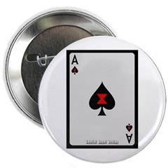 "Ace of Spades Card 2.25"" Button"