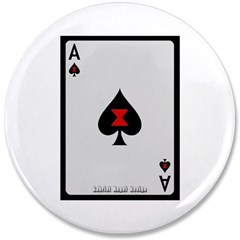 """Ace of Spades Card 3.5"""" Button"""
