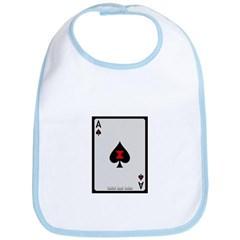 Ace of Spades Card Baby Bib