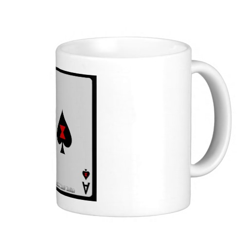 Ace of Spades Card Classic White Mug