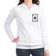 Ace of Spades Card Junior Zip Hoodie