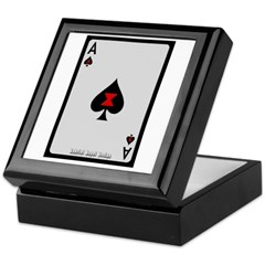 Ace of Spades Card Keepsake Box