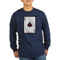 Ace of Spades Card Long Sleeve Dark T-Shirt