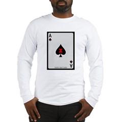 Ace of Spades Card Long Sleeve T-Shirt