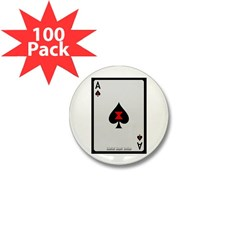 Ace of Spades Card Mini Button (100 pack)