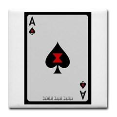 Ace of Spades Card Tile Coaster