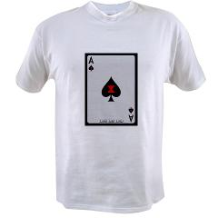Ace of Spades Card Value T-shirt