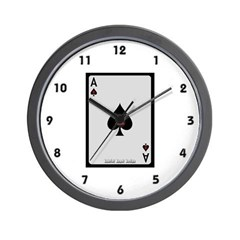 Ace of Spades Card Wall Clock