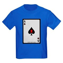 Ace of Spades Card Youth Dark T-Shirt by Hanes