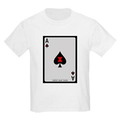 Ace of Spades Card Youth T-Shirt by Hanes
