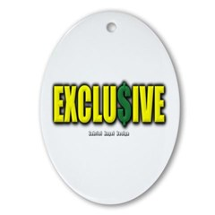 Exclusive Oval Ornament