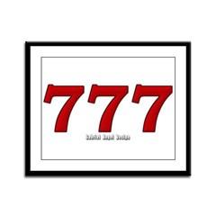 777 Framed Panel Print