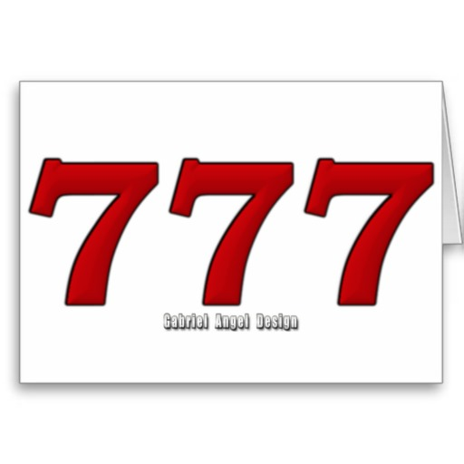 777 Greeting Cards