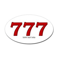 777 Oval Decal